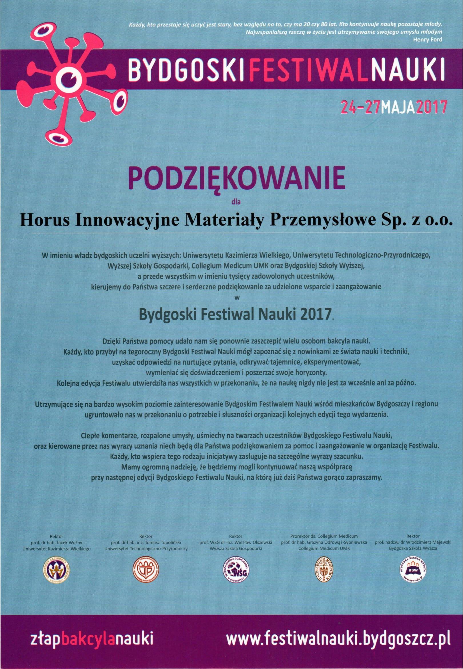 Festiwal Nauki Horus