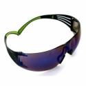 Okulary ochronne 3M SF408AS niebieskie lustro