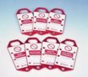 BRADY - Blokady klamrowe z etykietami (np. 265390)