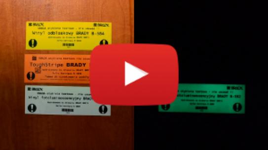[WIDEO] Etykiety przemysłowe - odblaskowe i fotoluminescencyjne