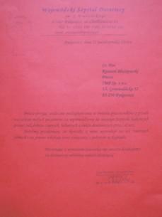 Podziękowania od Wojewódzkiego Szpitala Dziecięcego