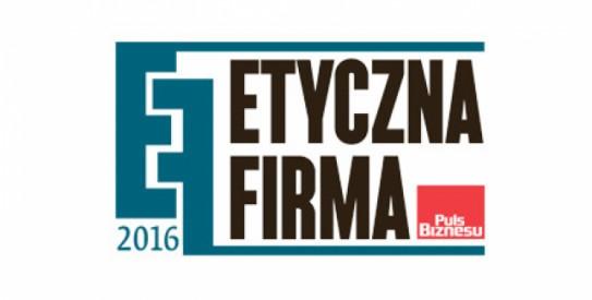 Etyczna Firma w 2016 r. wg Puls Biznesu