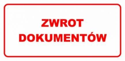 Etykieta ETH-02 Zwrot Dokumentów
