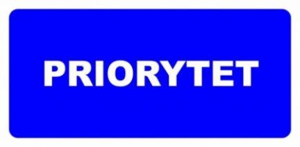 Etykieta ETH-21n Priorytet