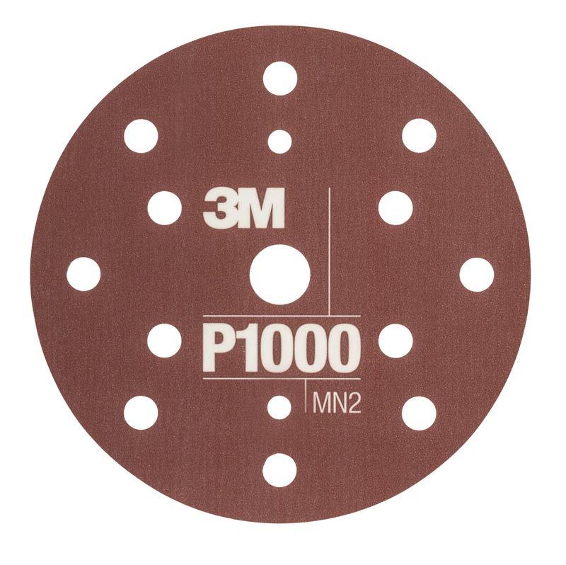 3M 34421 Krążki ścierne HookIt 150mm 15 otworów 25szt. P1000