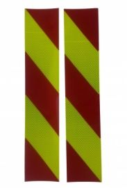 3M Pasy ukośne 100x500mm czerwono-żółte lewe