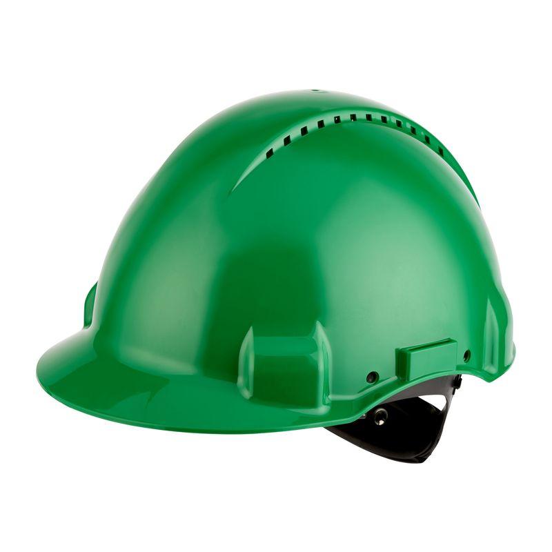 Hełm ochronny 3M G3000NUV zielony z regulacją śrubową