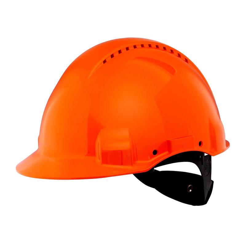 Hełm ochronny 3M G3000NUV pomarańczowy z regulacją śrubową