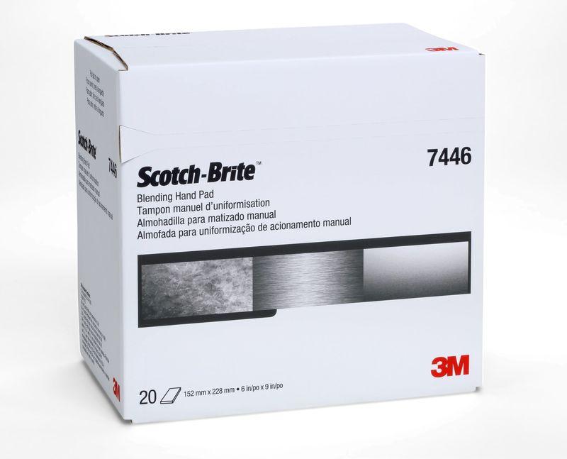 3M 7446 Włoknina ścierna S MED 158x224mm