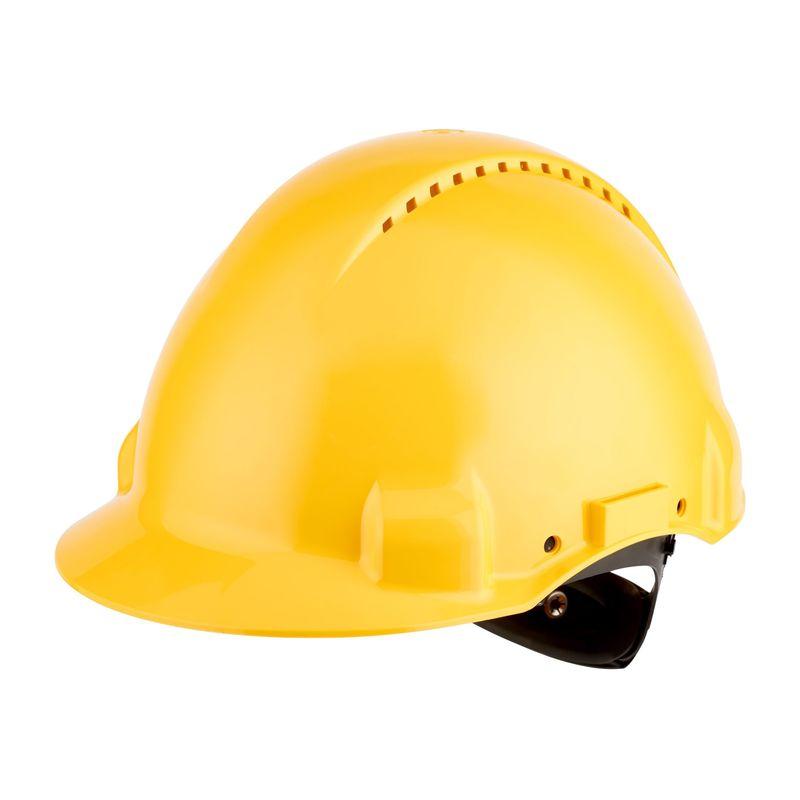 Hełm ochronny 3M G3000NUV żółty z regulacją śrubową