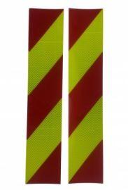 3M Pasy ukośne 100x500mm czerwono-żółte prawe