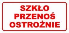 Etykieta ETH-14 Szkło Przenoś Ostrożnie
