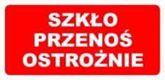 Etykieta ETH-14i Szkło Przenoś Ostrożnie